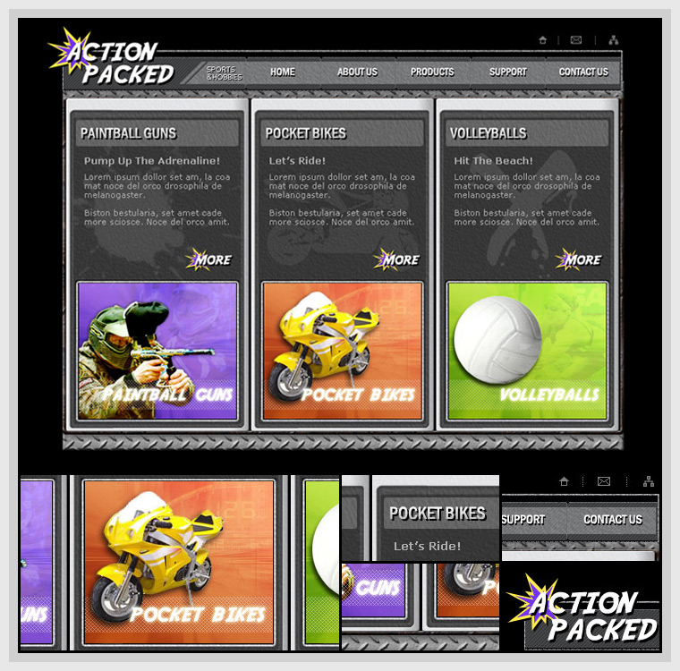Action Packed Sports (2005) - Design Concept
