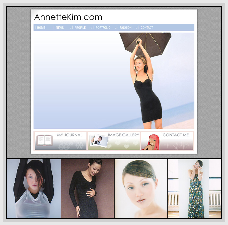 Annette Kim (2004) - Web & Graphic Design, Flash, Actionscript, XML, JavaScript