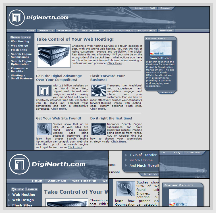 DigiNorth (2002) - Web & Graphic Design, HTML, CSS, JavaScript